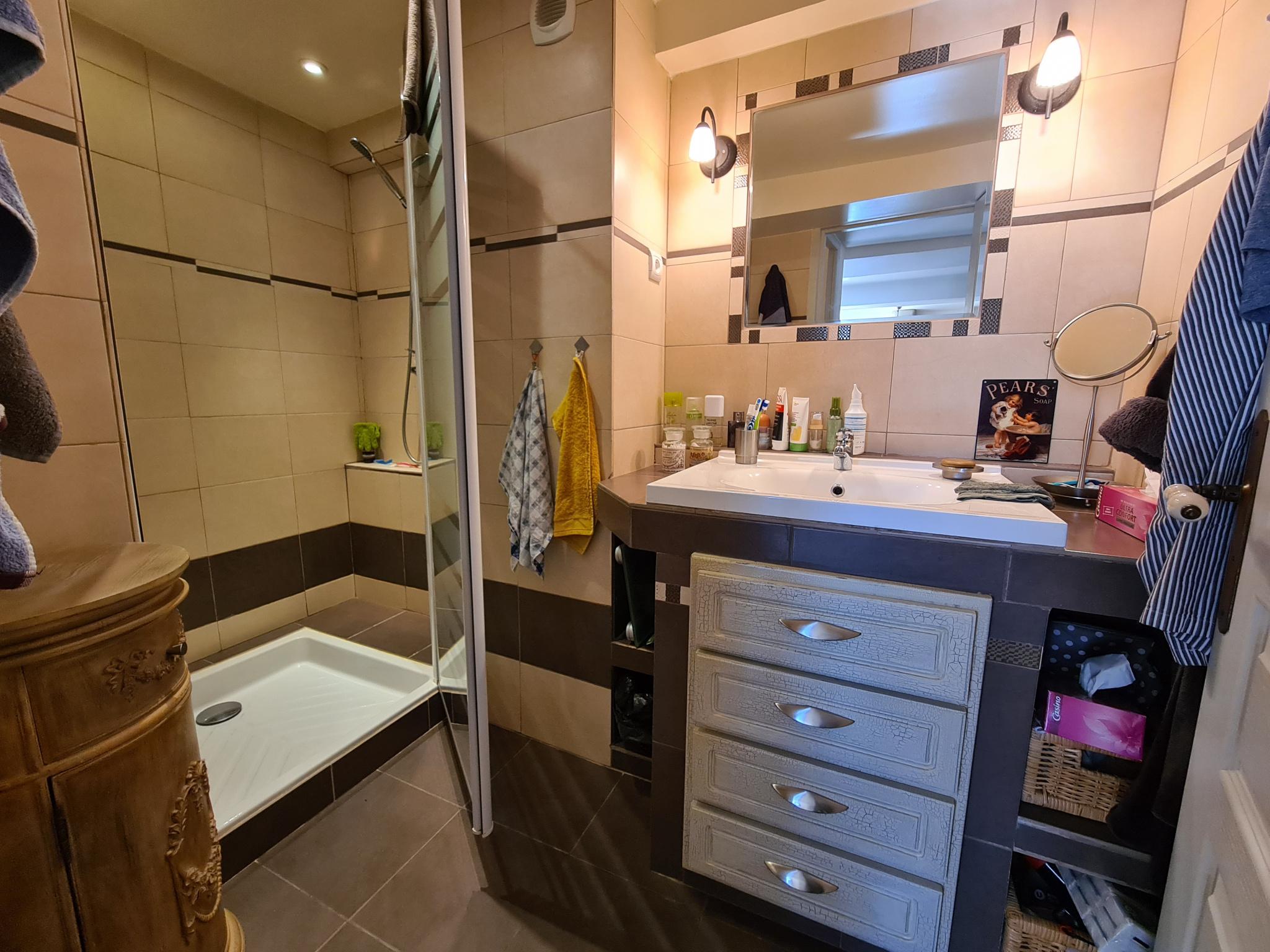 Niveau 1 : Spacieuse salle d'eau avec meuble vasque